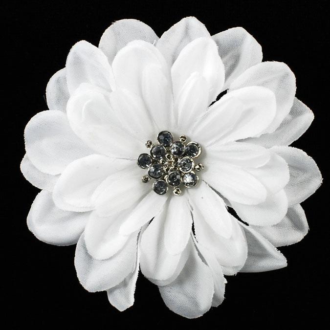 Black Flower Corsage Brooch Masoomah: Artificial Flower Brooch