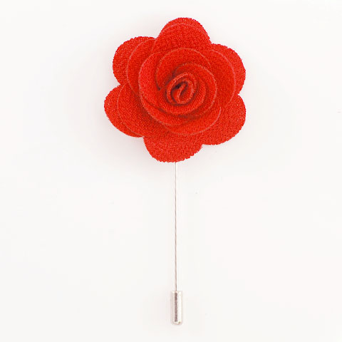 Red flower lapel pin floral lapel pin mightylinksfo