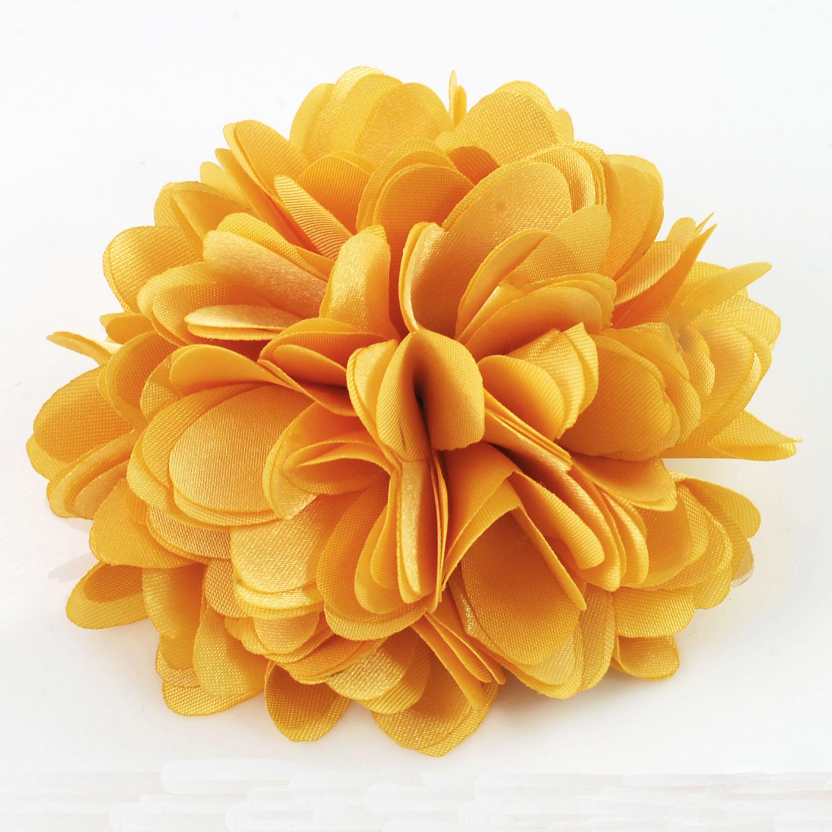 Yellow satin flower pin fr191003 yellow satin flower pin mightylinksfo