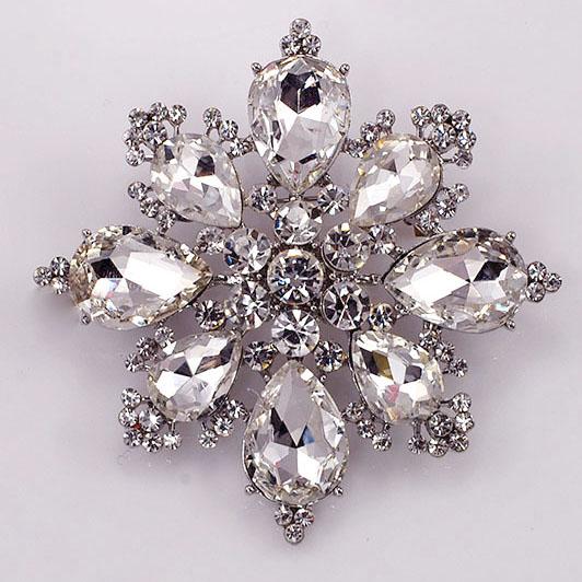 Crystal Rhinestone Brooches