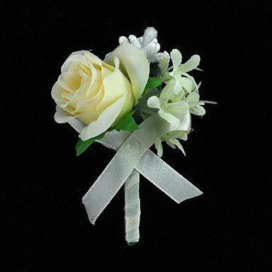 rose silk flower boutonniere bt3007 - Garden Rose Boutonniere
