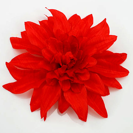 Red soft fabric flower pin red silk flower pin mightylinksfo