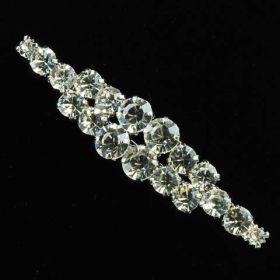 long shape diamond brooches