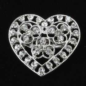 Heart Wedding Brooch