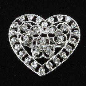 Heart Wedding Brooch