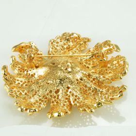 Gold Flower Brooch