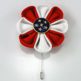 Patriotic Flower Pin