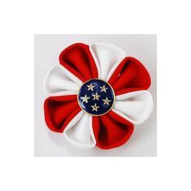 Patriotic flower pin