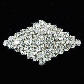 small crystal diamond brooches