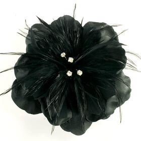 Feather flower pin