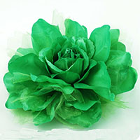 St Patrick's Day Green Flower PIn