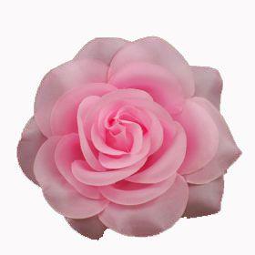 Pink Rose Flower Pin