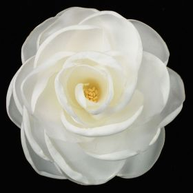 Mother's Day White Fabric Flower