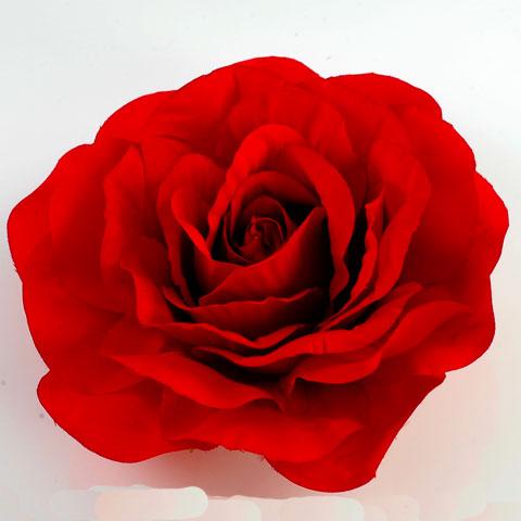 Red Rose Flower Pin