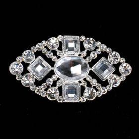 rhinestone brooch with clear pearl