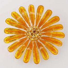 Epoxy Daisy Flower Brooch