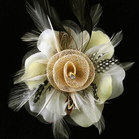 Artificial flower pin brooches
