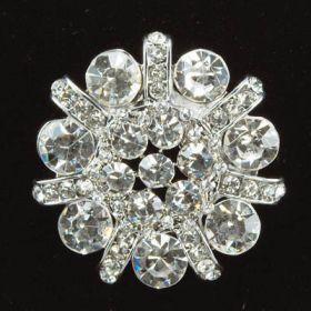 Crystal Wedding Brooch