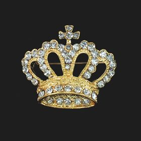 Gold Crown Brooch