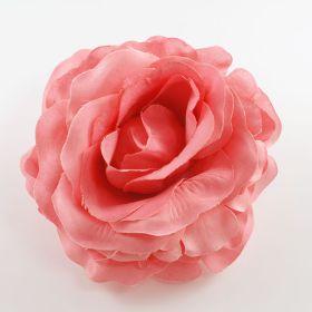 Fabric Rose Flower Pin