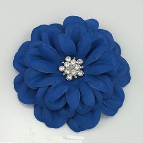 Blue Satin Flower Pin