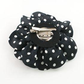 polka dot flower pin