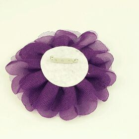 polka dot flower pin