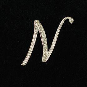 initial brooch N