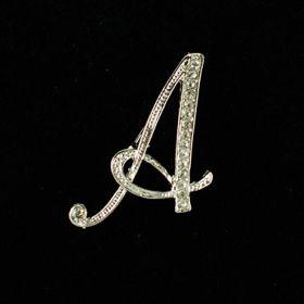 initial brooch A