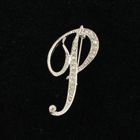 initial brooch P