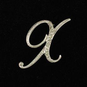 initial brooch X