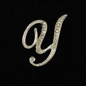 initial brooch Y