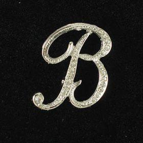 initial brooch B