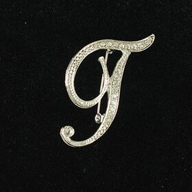 initial brooch T