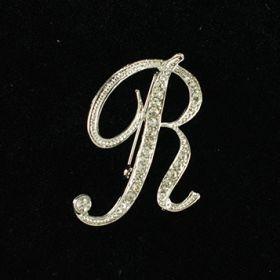 initial brooch R