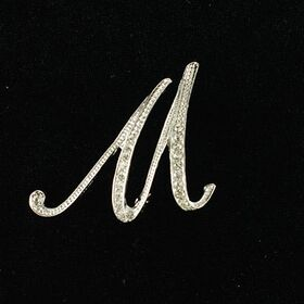 initial brooch M