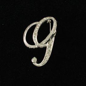 initial brooch G