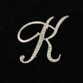 initial brooch K
