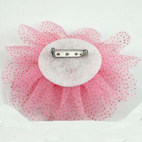 Glitter Tulle Fabric Flower