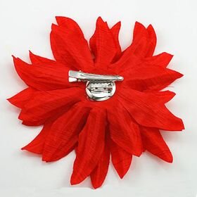 Red Silk Flower Pin