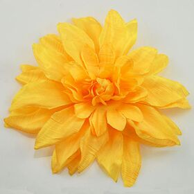 Yellow Silk Flower Pin