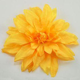 Yellow Silk Flower Pin
