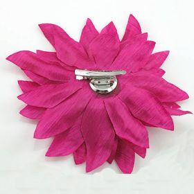 Fuchsia Soft Flower Pin
