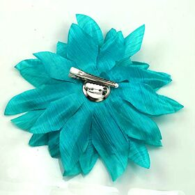 Auqa Blue Flower Pin