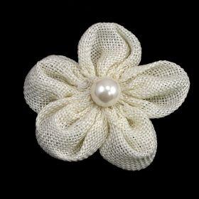 Linen flower pin