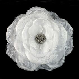 White Wedding Flower pin