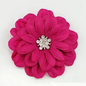 Fuchsia Satin Flower Pin
