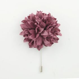 Grape color Flower Lapel Pin