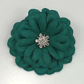 Green Satin Flower Pin