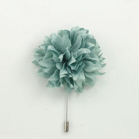 Sage Color Flower Lapel Pin